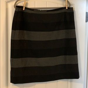 Black and Gray lined striped skirt